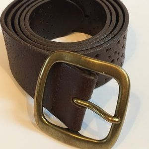 J.Crew Women's Brown Leather Belt (Size Medium)